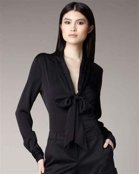 plunging neckline blouse zoe tie neck plunge blouse 39 s lace blouses