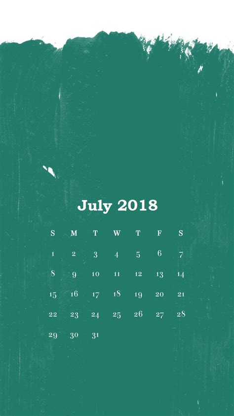 July 2018 Iphone Calendar Wallpapers  Calendar 2018