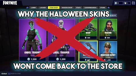 halloween skins wont    fortnite youtube