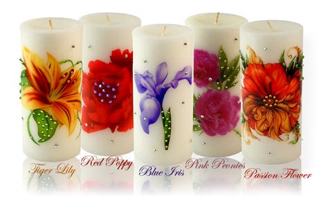 Candele Decorate by Flower Candles Archives Decorative Candle Shop