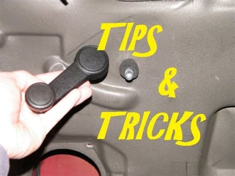 removal replacement window winder handle youtube