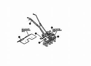 Craftsman Mini Tiller  Cultivator Engine Assembly Parts