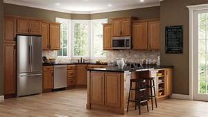 hampton wall kitchen cabinets in medium oak 2024