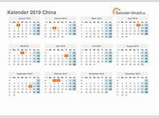 Feiertage 2019 China Kalender & Übersicht