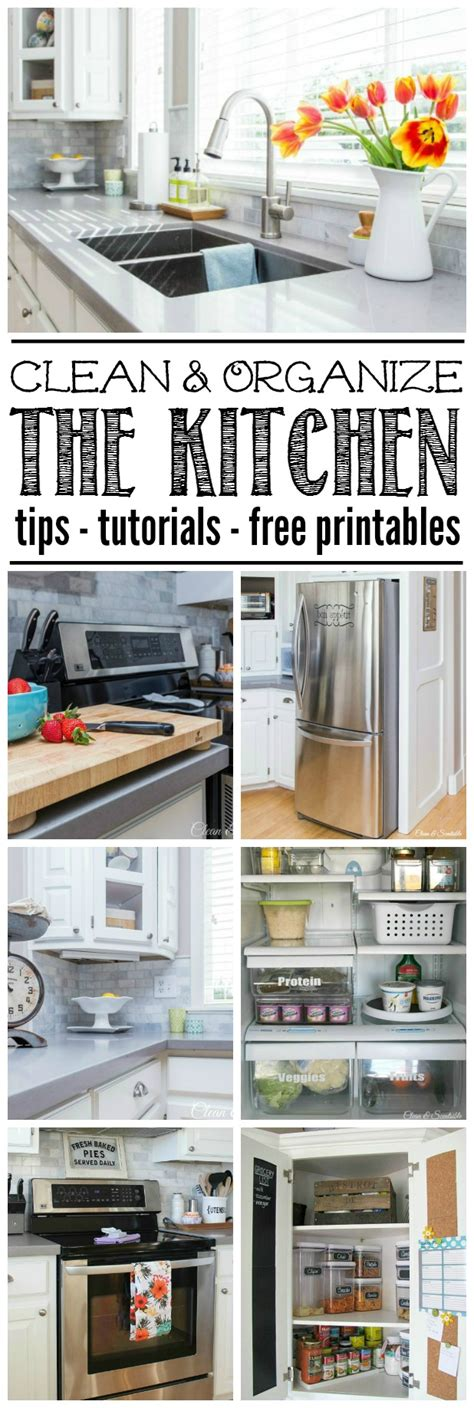 how to keep kitchen clean and organized clean and organize the kitchen february hod printables 9465