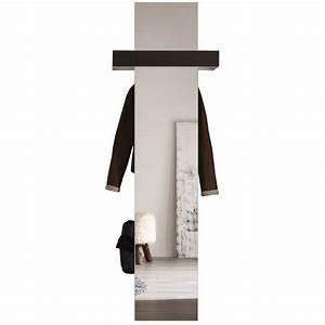 meuble vestaire avec miroir coloris blanc et chene fonce With meuble a chaussure avec miroir 4 finlandek vestiaire peili 180cm blanc chene achat