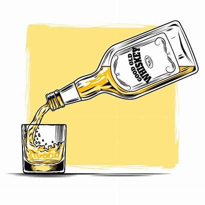 Whisky Whiskey Glass Vector Illustration