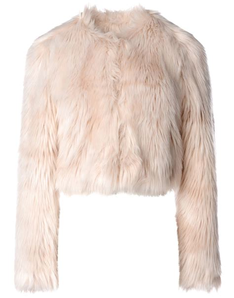 light blue faux fur coat pale pink fur coat jacketin