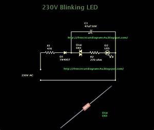 Free Circuit Diagrams 4u  230v Blinking Led