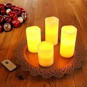 Led Kerzen Mit Fernbedienung 4er Set : 4 led kerzen mit fernbedienung flammenlose echtwachskerzen wachskerzen 4er set eur 14 79 ~ Orissabook.com Haus und Dekorationen