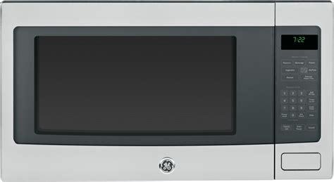 ge pebsfss  cu ft countertop microwave oven   watts  power levels sensor