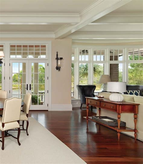 Homes Decor living area with view of the kiawah river kiawah home