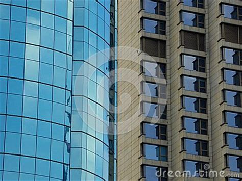 Two Kinds Of Modern Buildings Exterior Stock Photo Image