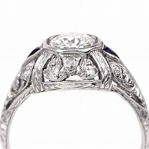 antique diamond platinum engagement ring at 1stdibs With vintage platinum wedding ring