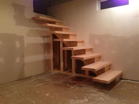 building stairs finished floating stairs handy