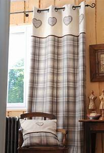 Rideaux Style Chalet : rideau tartan naturel accroche rideau pinterest accroche rideau accroche et rideaux stores ~ Teatrodelosmanantiales.com Idées de Décoration
