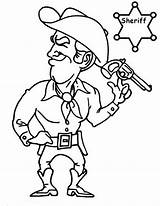 Coloring Sheriff Pages Cowboy Button Using Into Getcolorings Printable Grab Feel Could Right Template sketch template