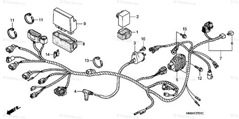 Wiring Diagram For Honda Recon Atv by Honda Atv 2004 Oem Parts Diagram For Wire Harness Te