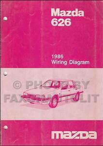 1986 Mazda 626 Wiring Diagram Manual Original