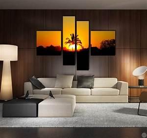 Tableau Deco Maison : tableau paysage palm sun ~ Teatrodelosmanantiales.com Idées de Décoration