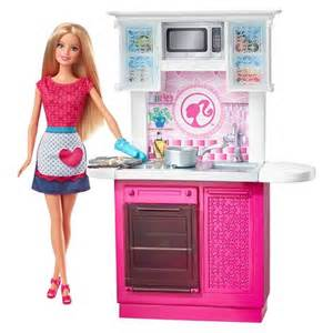 barbie doll and kitchen furniture set target