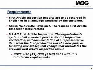 first article inspection With first article inspection procedure template