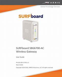 Arris Sbg6700 Ac User Guide Manual Sbg6700