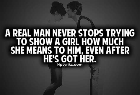 real man  stops   show  girl
