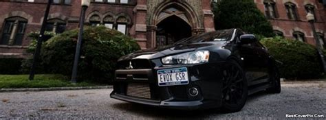 Car Timeline Photos by Cars Fb Covers Black Mitsubishi Angled On Road