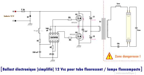 ballast 233 lectronique 224 entr 233 e 12 vcc pour tubes