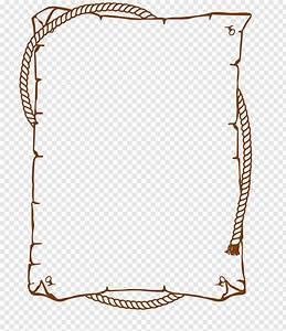 Brown, Boarder, Illustration, Rope, Frame, Free, Png