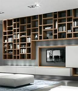 Bibliothèque Murale Bois : l tag re biblioth que comment choisir le bon design ~ Premium-room.com Idées de Décoration