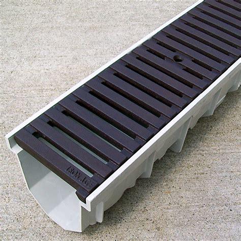 driveway drain 5 mearin 100 driveway drainage kit w cast iron grates regular joe drainagekits com