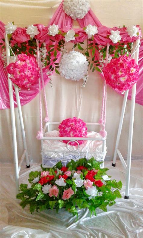 dekorasi tasmiyah aqiqah ayunan