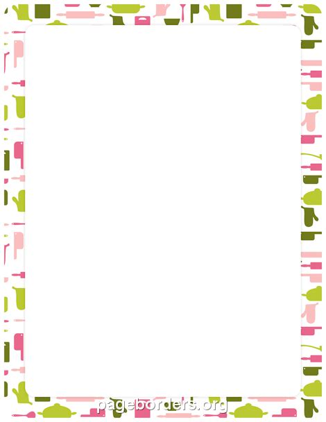 cooking border clip art page border  vector graphics