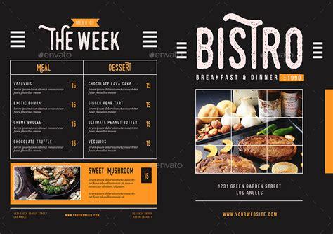 rustic bifold restaurant menu  kho  hoa