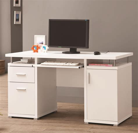 Computer Desk With Drawers by Coaster Desks White Computer Desk With 2 Drawers Cabinet