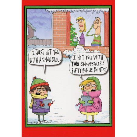 Shop outrageous funny christmas cards sets at jam paper! Nobleworks Fifty Bonus Points Box of 12 Funny / Humorous ...