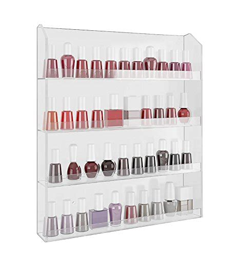 nail rack walmart home it acrylic wall rack organizer holds up to 40 bottles