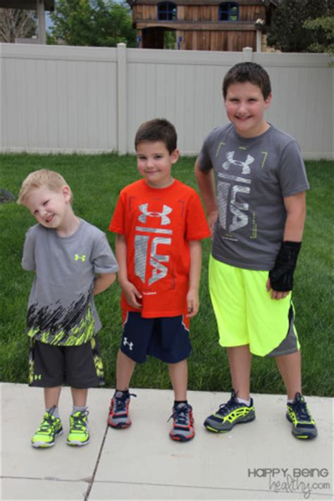 armour youth clothing happy  healthy