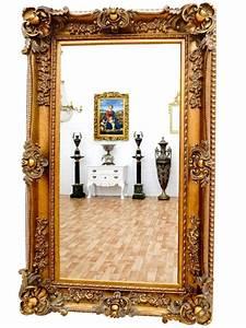 Miroir Baroque Argenté : miroir baroque dor 156x95 cm meuble de style ~ Teatrodelosmanantiales.com Idées de Décoration