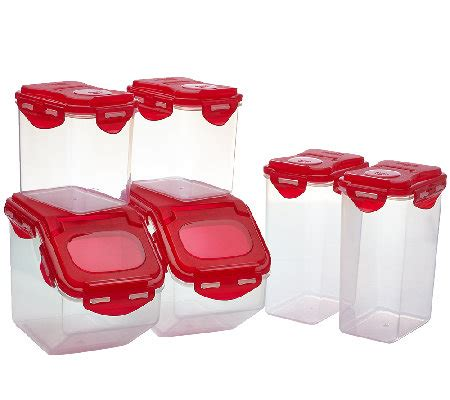 qvc kitchen clearance lock lock 6 pantry storage set qvc