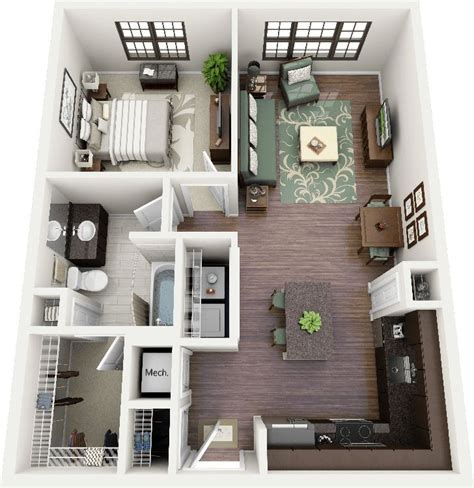 bedroom apartmenthouse plans small dining