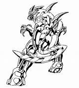 Coloring Bakugan Factory Hero Library Clipart Episodes sketch template
