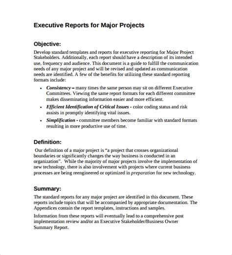sle executive report 10 documents in word pdf word docs apple pages