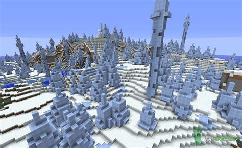minecraft biome stalagmites de glace