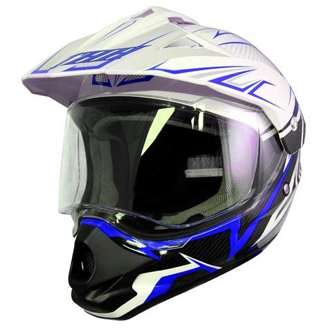 white motocross helmet thh tx 13 1 white blue dual sport helmet motorcycle mx