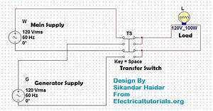Manual Transfer Switch Wiring Diagram For Portable Generator