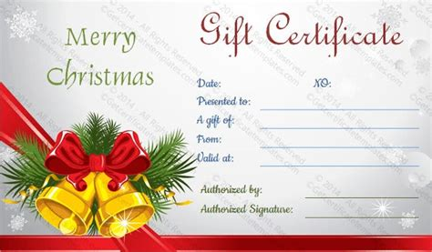 holiday gift certificate templates psd word ai