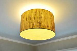 Making a ceiling light with diffuser from lamp shade